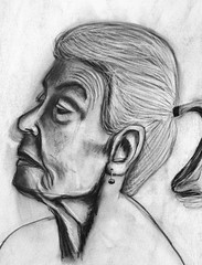 Portrait 102112 (alicethelma) Tags: portrait illustration sketch drawing charcoal draw charcoaldrawing