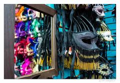 NOLA Masks 2 (evangelos K) Tags: colors mirror louisiana downtown mask neworleans feather nola touristshop nex3