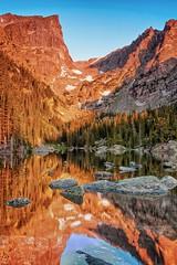 Dream Lake Sunrise 2584 Rocky Mountain National Park (Ken Brodeur) Tags: summer storm color vertical sunrise landscape outdoors morninglight photo colorado photograph vista rockymountains rmnp estespark rockymountainnationalpark fineartphotography dreamlake