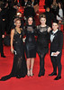Tulisa Contostavlos with X Factor finalists Jade Ellis, Lucy Spraggen and Ella Henderson James Bond Skyfall World Premiere held at the Royal Albert Hall- London