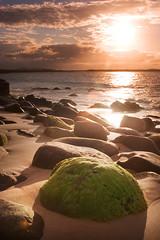 Long Shadows (edwinemmerick) Tags: ocean sea sky cloud sun seascape 20d beach nature rock canon landscape eos coast sand shoreline boulder shore qld queensland noosa coastline edwin sunshinecoast emmerick edwinemmerick