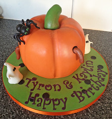 Pumpkin Halloween Birthday Cake