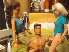 20121027is_Terry6, Max1 & Maggie4+ (Studio 126) Tags: 16scale 6thscale sixthscale playscale maxsteel mattel 1990teresasculpt mackiesculpt articulated gymnastbody artibabs actionfigure actiondoll 126fletch 126tara 126delfie swimwear wetsuit laracroft tombraider ultraactionbody barbiedoll marriage