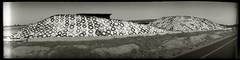 Land whale (efo) Tags: bw panoramic silage mysteriouscamera