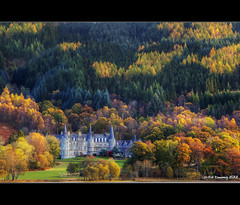 Tigh Mor Hotel Loch Achray (Kit Downey) Tags: morning autumn trees light red brown green castle fall sunrise lens landscape rebel hotel scotland early october kiss soft colours seasons seasonal pass scottish l series kit usm loch ef trossachs autumnal tigh mor x4 dukes 2012 downey aberfoyle 2470mm achray f28l t2i canoneos550d