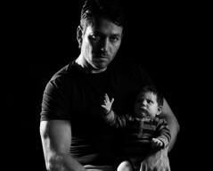 Dictators (Ptur Gunn Photograpphy) Tags: portrait baby white black cute beauty face self studio fun photography photo infant funny pretty day child little joke father daughter plan best haha ha dictator rule