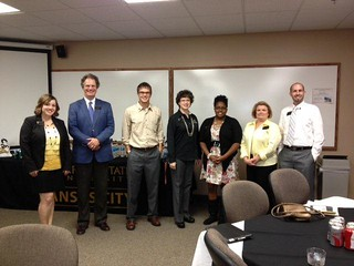 Emporia State Faculty, Staff and a Student at the first Counselor Lunch and Learn in Overland Park, KS on October 24, 2012!