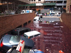 In Time for Halloween? (beanhead4529) Tags: nyc newyorkcity underground flooding flood manhattan garage gothamist lowermanhattan curbed frankenstorm hurricanesandy