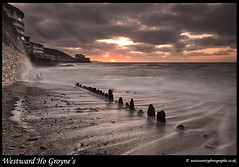 Westward Ho Groynes - Explore Front Page (Rob Kendall (aka minolta mad)) Tags: sunset beach sony groynes northdevon westwardho a900 robkendall