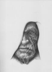nowyouseeme9 (touchdry) Tags: original portrait face pencil tim image drawing surrealism surreal drawings physics mystical surrealist dimension graphite quantum visage seaward ablot
