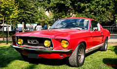 Ford Mustang (M.G.C Pictures) Tags: red art ford canon rouge eos mustang retromobile evenement rassemblement 550d