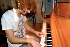 Bang bang (linspiration01) Tags: boy music blur guy shirt hair keys photography high exposure room piano artsy curly hoe unf