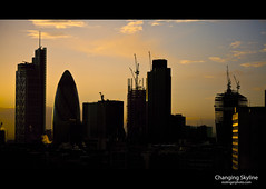 London Silhouette (esslingerphoto.com) Tags: city uk greatbritain morning light england cloud building london silhouette skyline architecture clouds skyscraper sunrise buildings photography europe exposure cityscape skyscrapers britain capital architectural single hour 5d esslinger esslingerphotocom