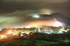 (David-Shih) Tags: city light mountain clouds landscape tea taiwan rays   alishan     shihjhuo