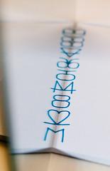 Spoiler alert (glukorizon) Tags: blue white reflection paper mirror blauw many spiegel number numbers series papier wit odc reflectie veel spiegeling reeks pieceofpaper getal odc2 ourdailychallenge