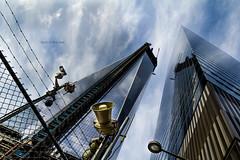 land of the  free (Bernd Weymann) Tags: nyc newyorkcity newyork building tower architecture skyscraper buildings flickr skyscrapers manhattan freedomtower oneworldtradecenter
