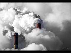 Cloud Factory (bernd obervossbeck) Tags: chimney industry steam industrie ruhrgebiet powerstation kamin powerhouse dampf qualm scholven mygearandme mygearandmepremium mygearandmebronze