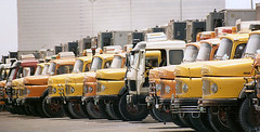 Mercedes Line Up Dubai July 1993 (colinfpickett) Tags: truck mercedes dubai uae german classictruck vintagetruck famoustruck