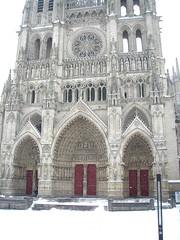 Amiens - Cathédrale (gueguette80 ... non voyant pour une durée indéte) Tags: winter snow maisons hiver cathédrale neige janvier amiens froid picardie somme 2013