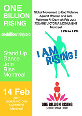 One Billion Rising Montreal (Taymaz Valley) Tags: uk girls woman usa newyork toronto canada london japan vancouver digital tokyo flyer women quebec montreal violence rise cambridgeshire taymazvalley onebillionrising menrise