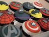 Marvel / DC / Comic Cupcakes (TheSugarplumBakehouse) Tags: america cupcakes dc comic spiderman xmen covered captain superhero batman thor marvel edible avengers fondant