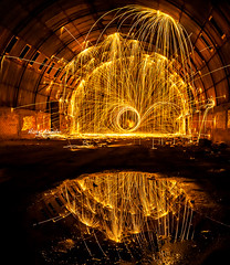 steel wool fun photography (Mishal Almesfer) Tags: sea seascape beach wool stars landscape fun fire photography landscapes photo amazon nikon steel extreme pro kuwait wacom sandisk q8 lightroom intuos extremist  d90 joby  f3545 adorama gorillapod   1024mm  almesfer