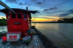 Fishermen's View (Arief Rasa) Tags: sunset boat fishermen hdr kelantan bachok senok jubakar ariefrasa