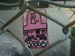 Joogs (Wesley Krusher) Tags: california ca graffiti j bay sticker character east pirate area eastbay hayward cofer joog