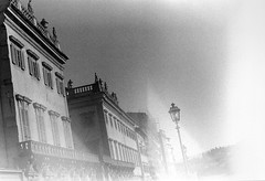 Firenze; memory (Timoleon Vieta II) Tags: from road trip light bw white black home statue architecture grain memory firenze miles 1000 timoleon