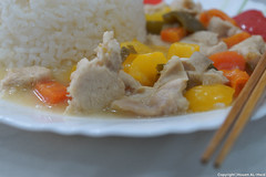 Chinese-Style Meal (Hosam AL-Hwid) Tags: wood food color pepper sticks rice sony chinese style meat delicious eat meal a77 hosam alhwid