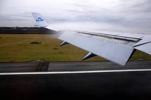 Landing in Amsterdam (AMS)