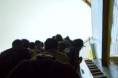 emerging (edwardpalmquist) Tags: losangeles california city street urban escalator sky crowd man people outdoors subway