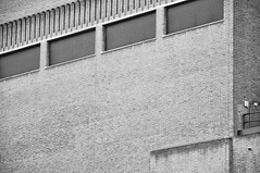 DSC_0422 [ps] - Formal Exchange (Anyhoo) Tags: uk england blackandwhite bw brick london texture wall vent angle tate louvre tatemodern join ribbed southwark rhythm parkstreet anyhoo photobyanyhoo