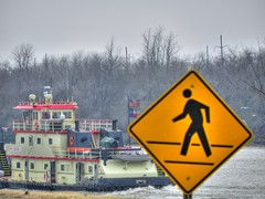 Catch the Boat (clarkcg photography) Tags: sign trafficsign roadsign warningsign signage signs 7dwf crazytuesdaytheme trafficsignals