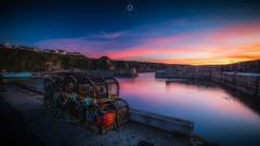 Lifeblood (Augmented Reality Images (Getty Contributor)) Tags: canon cliffs clouds colours creels fishing harbour landscape leefilters longexposure morayshire portknockie scotland sunset village