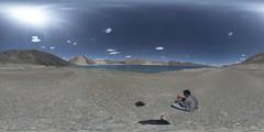 360x180 view of western side of Pangong Lake (14,270') (faram.k) Tags: pangonglake panorama equirectangular ptgui
