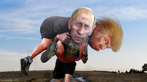 From flickr.com/photos/47422005@N04/28512617446/: Vladimir Putin carrying his buddy Donald Trump - watch out if .The Don, From Images