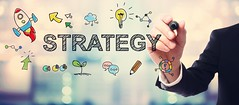 Strategy (jefflupient) Tags: business strategy marketing plan concept success idea vision growth solution innovation development management research creative information analysis technology graph diagram businessman man people hand bokeh light shiny pen drawing writing suit pink horizontal wide panorama cartoon illustration sketch colorful many small