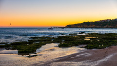 Oura Beach, sunset (ivofilipeoliveira) Tags: leica leicatyp109 beach beachsunset praia praiadaoura oura algrave portugal albufeira sunset