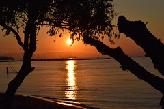 Thessaloniki,Greece. (fil_____) Tags: sunset sun summer2016 neoiepivates peraia thessaloniki greece orange shilouettes sea dusk outdoor landscape ngc nikond3300 nikon