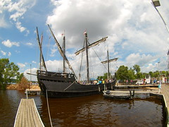 (theleakybrain) Tags: mokacam mokacam4k 20160716134630 columbus ships hudson wisconsin nina pinta tall wideangle actioncam indegogo