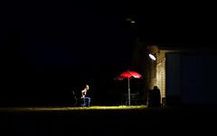 Like A Moth (eddi_monsoon) Tags: 365 threesixtyfive selfportrait selfie self portrait light umbrella spotlight