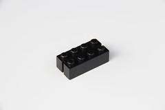 Black Prima Target Brick (BF Bricks) Tags: lego 2x4 vintage abb prima target slotted black rare htf