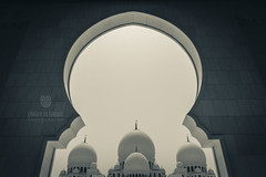 Divine and Darkness (Umair Ulhaque) Tags: divine god almighty lord islam muslim masjid mosque architecture exterior arches archway islamic sheikhzayedmosque abudhabi uae