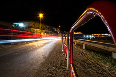 Verso Terrasini (Emykla) Tags: long exposure esposizione lunga night notte sicilia sicily cinisi terrasini palermo italia italy sea mare cars auto trail scia red rosso velocità speed photo foto flickr