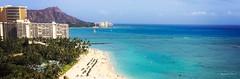 A hui hou  (megmcabee) Tags: hawaii oahi waikiki island sky sand diamondhead blue water