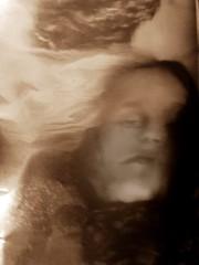 2016-08-22 portrait soluble (4)f (april-mo) Tags: soluble portrait experimentaltechnique experimental creative foil distortions reflection art woman womanportrait monochrome solubleportrait