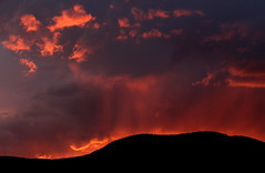 Sweet farewell (windyhill623) Tags: sunset eveninglight evening storm sky beautifullight mountain silhouette dusk stormlight cloudscape skyscape britishcolumbia salmonarm