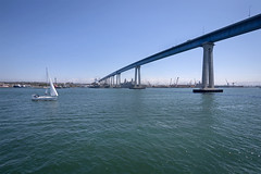 Coronado Bridge (fa5driver) Tags: sandiego bay flagship cruise coronadobridge panasonic gh3 714mm m43 sailboat