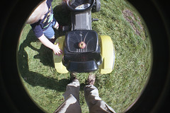 George put an apple on the tractor seat (tercrossman87) Tags: lomography lomo fisheye 2 agfa vista 200 film epson v550